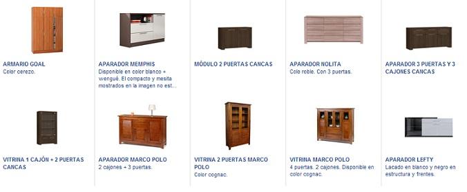 Conforama aparadores vitrinas productos for Aparadores conforama