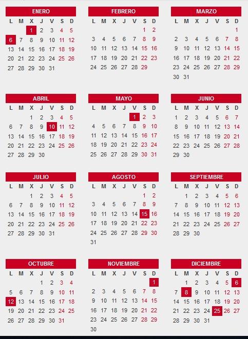 Calendario Festivo Espana 2020.Calenadrio Laboral De Espana Para El 2020 Guiaempresaxxi