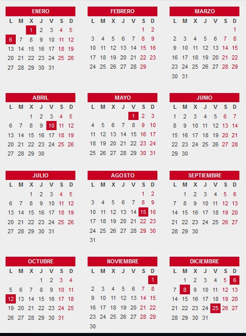 Calendario 2020 Espana Con Festivos.Calenadrio Laboral De Espana Para El 2020 Guiaempresaxxi