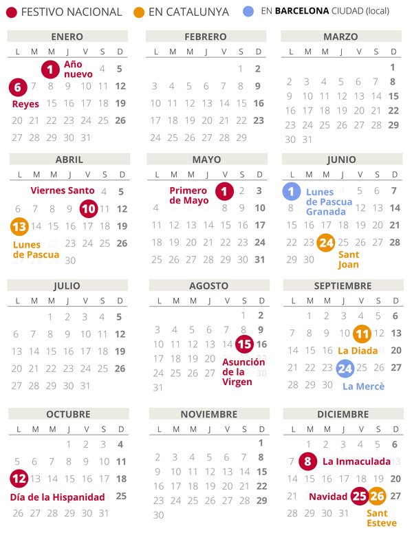 calendario festius catalunya